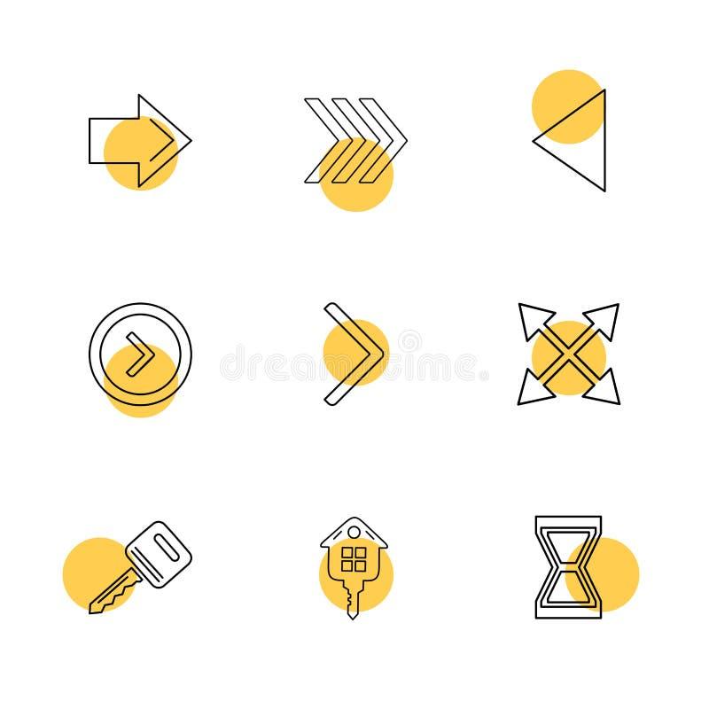 strzała, kierunki, pointer, strzała, eps ikony ustawiają wektor ilustracja wektor