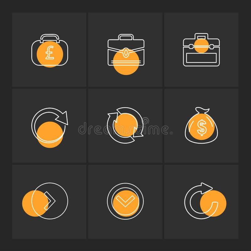 strzała, kierunki, pointer, strzała, interfejs użytkownika, pointer royalty ilustracja