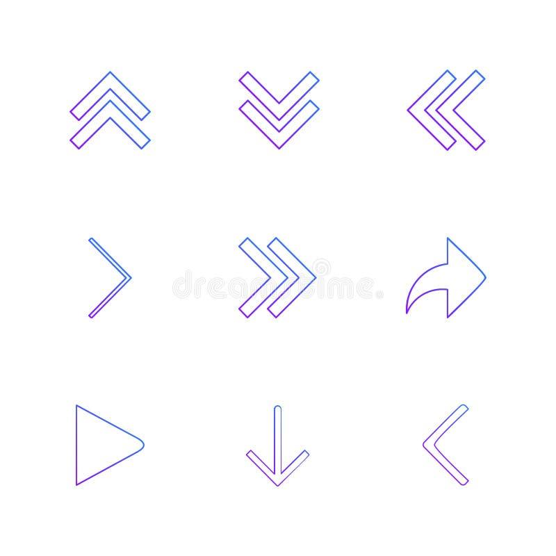 strzała, kierunki, pointer, strzała, interfejs użytkownika, pointer ilustracji