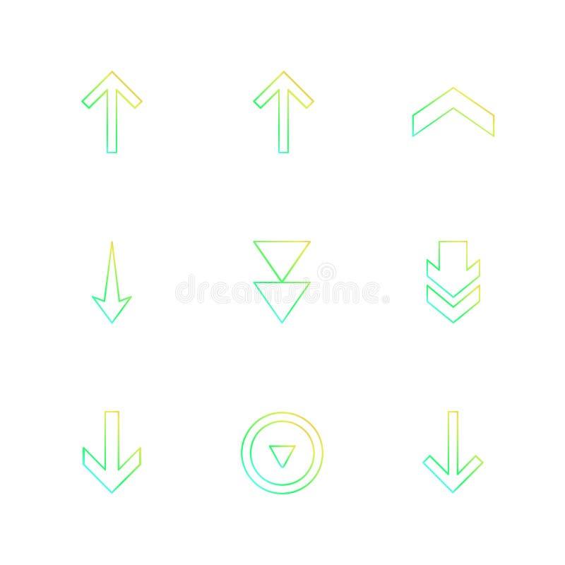 strzała, kierunki, pointer, strzała, interfejs użytkownika, pointer ilustracja wektor