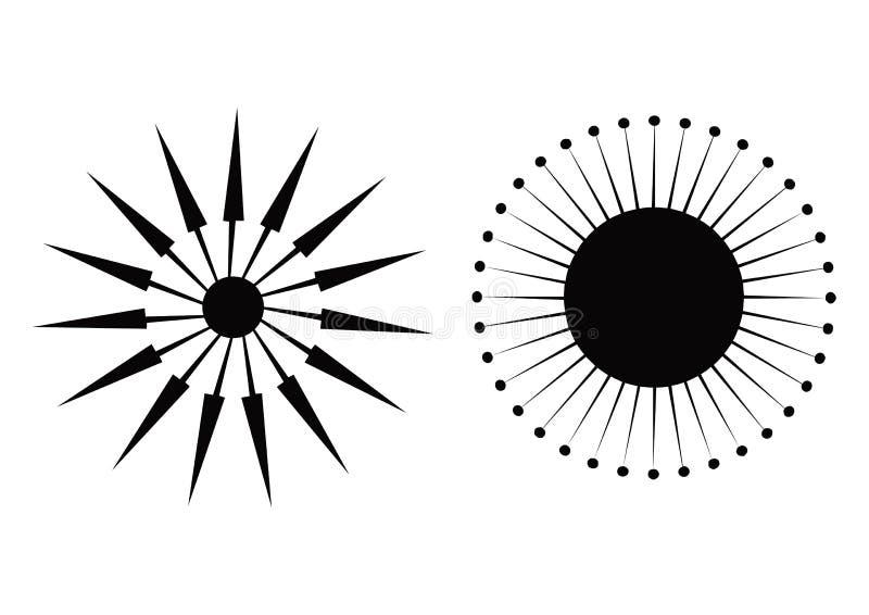 strzała kompasu wektor ilustracji