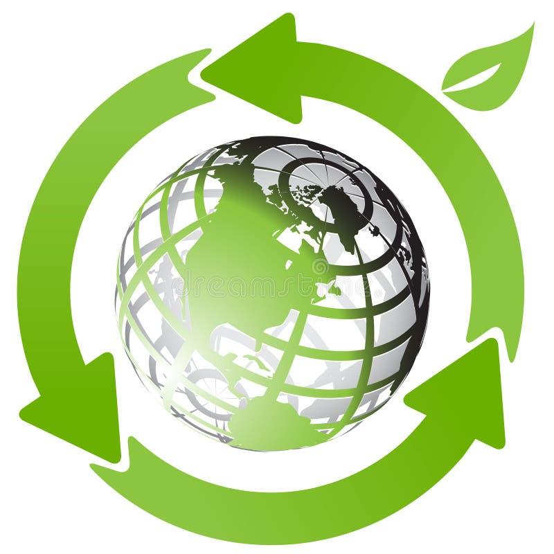 strzała kuli ziemskiej zieleń ilustracja wektor