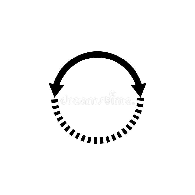 strzała, okrąg, nawigacja, ikona Element kierunek ikona Znaki i symbol inkasowa ikona dla stron internetowych, sieć projekt, wisz royalty ilustracja