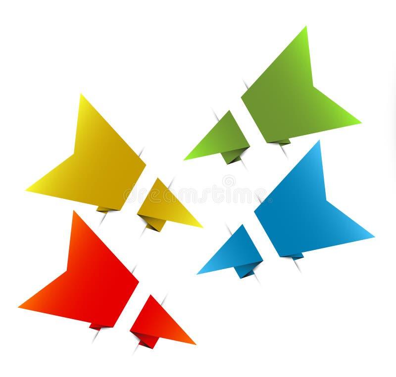 strzała origami papieru wektor ilustracja wektor