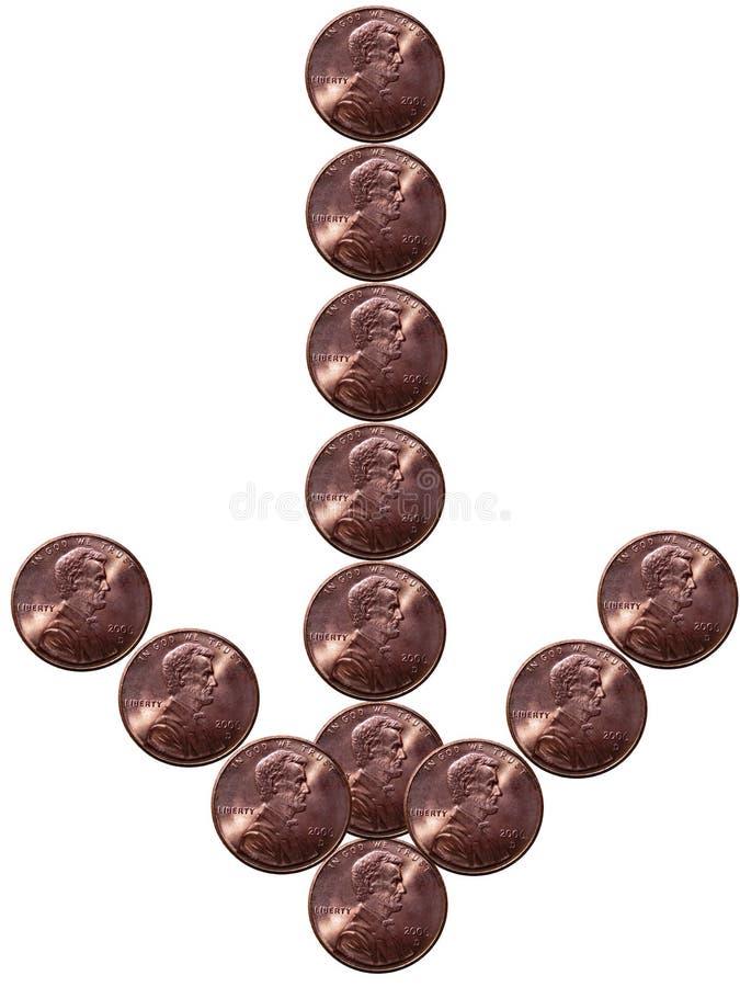 strzała pennie kształt zdjęcie royalty free