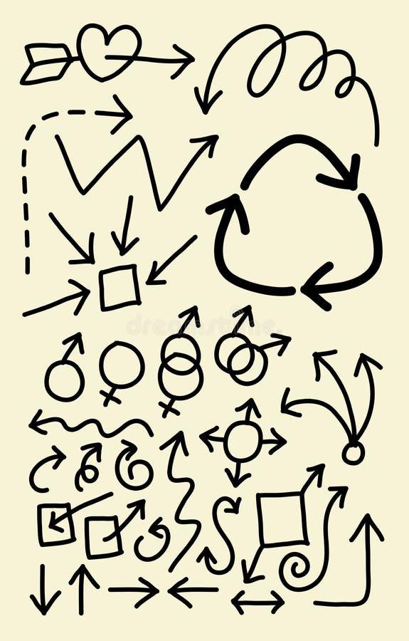 strzała tła projekta doodle wizerunek bezszwowy royalty ilustracja