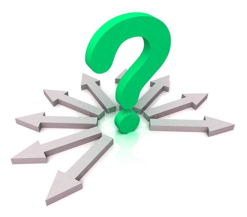 Strzała TARGET228_1_ Zielonego Pytanie Pokazywać Wybór ilustracji