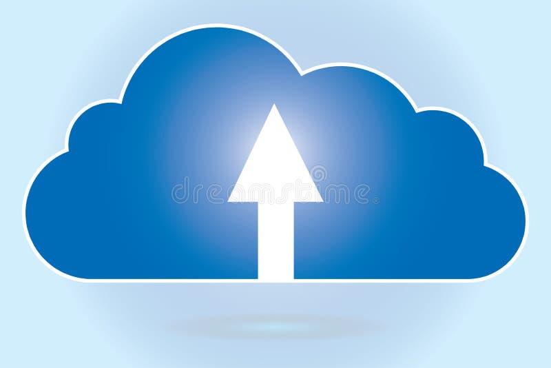 Strzała wskazuje up w chmurze ilustracji
