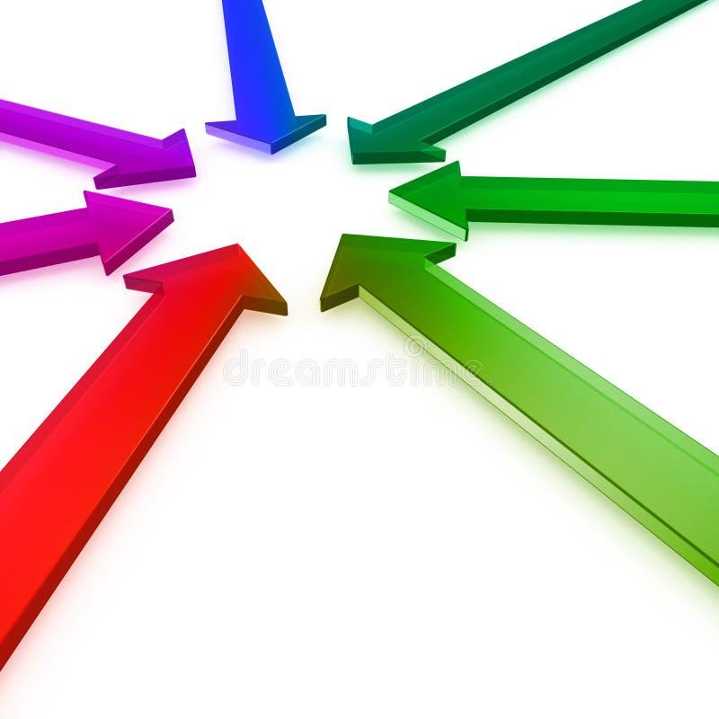 strzała ześrodkowywają kolorowy target155_0_ ilustracji