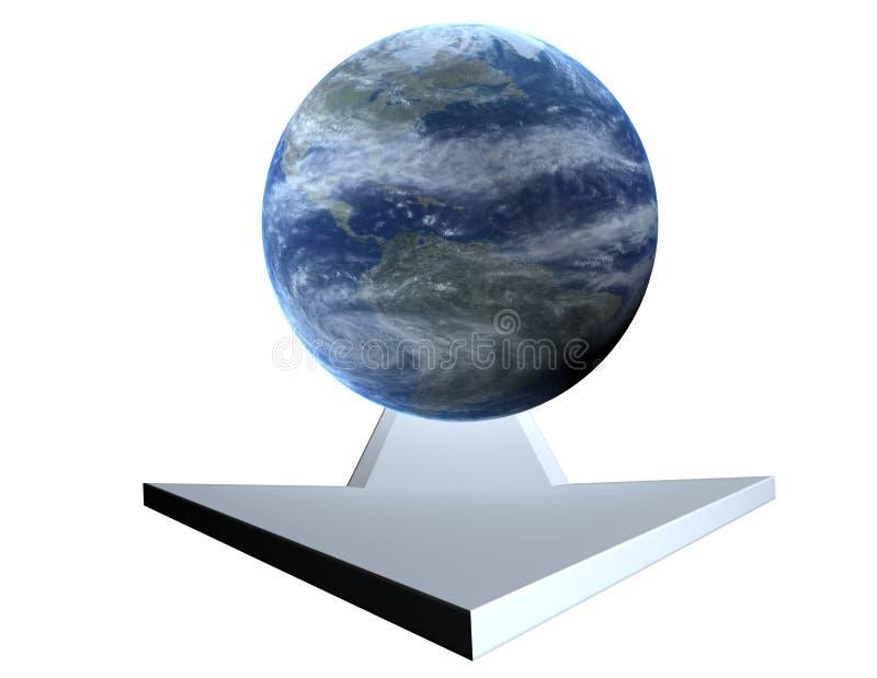 strzała ziemi ilustracji