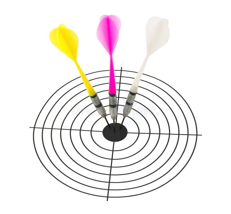 strzałka cel zdjęcie stock