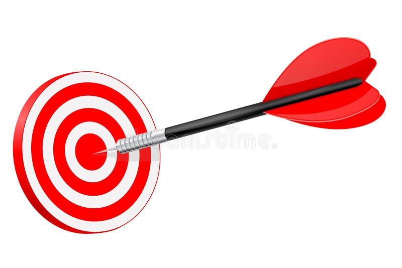 Strzałka w czerwonym dartboard ilustracja wektor