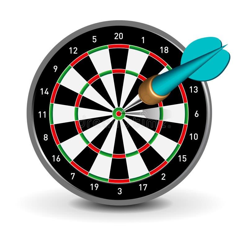 strzałki dartboard ilustracja wektor
