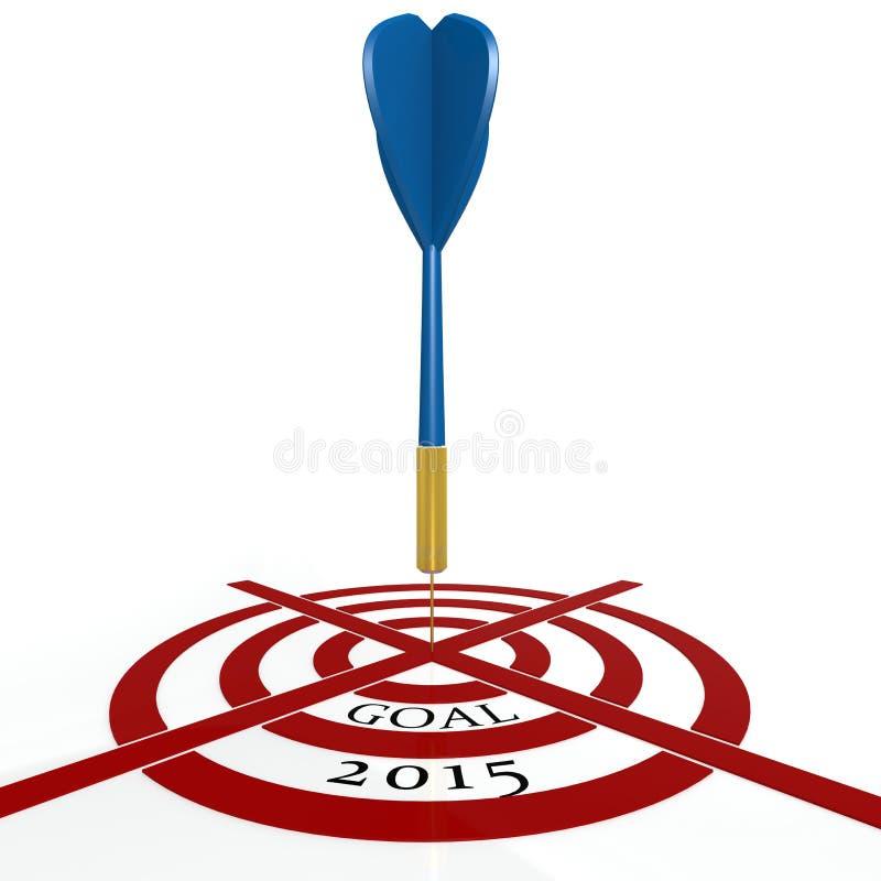 Strzałki deska z celem 2015 ilustracja wektor