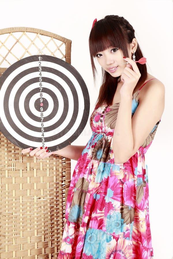 strzałki dziewczyna zdjęcie stock