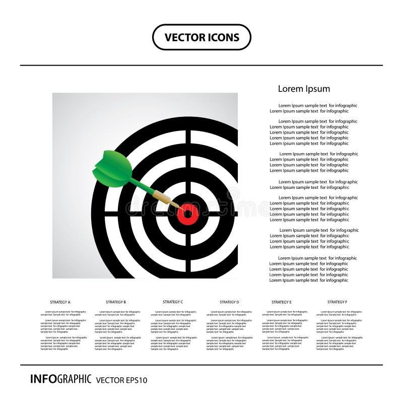 Strzałki gemowe z strzałką w celu ześrodkowywają ilustracja wektor