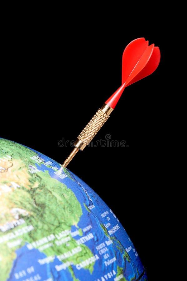 strzałki kuli ziemskiej czerwień fotografia royalty free