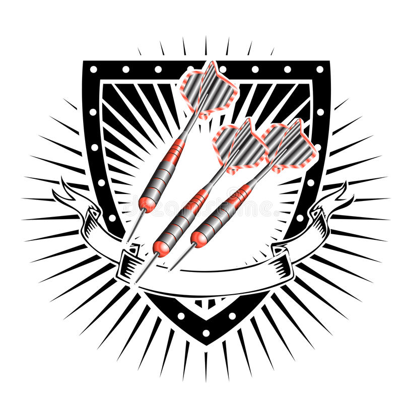 Strzałki osłona royalty ilustracja