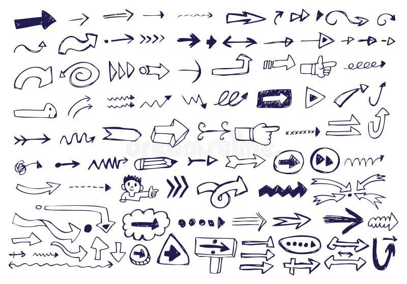 strzałkowaci doodles ilustracja wektor