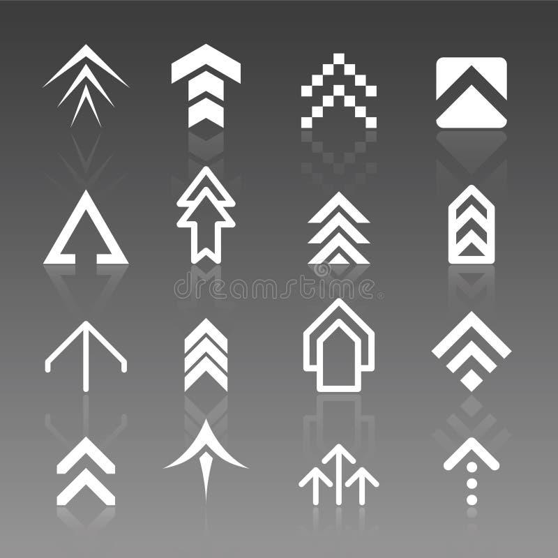 strzałkowaci położenie logo ilustracji