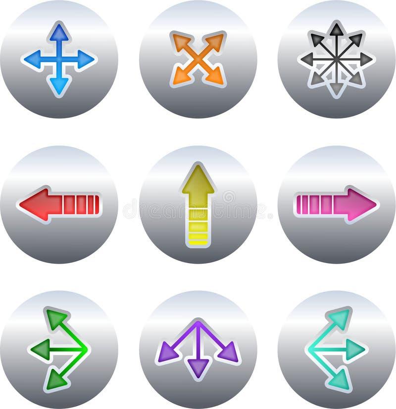 strzałkowaci przyciski ilustracji