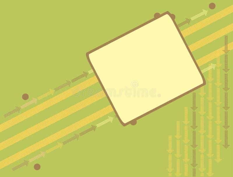 strzałkowata banner tła green ilustracja wektor