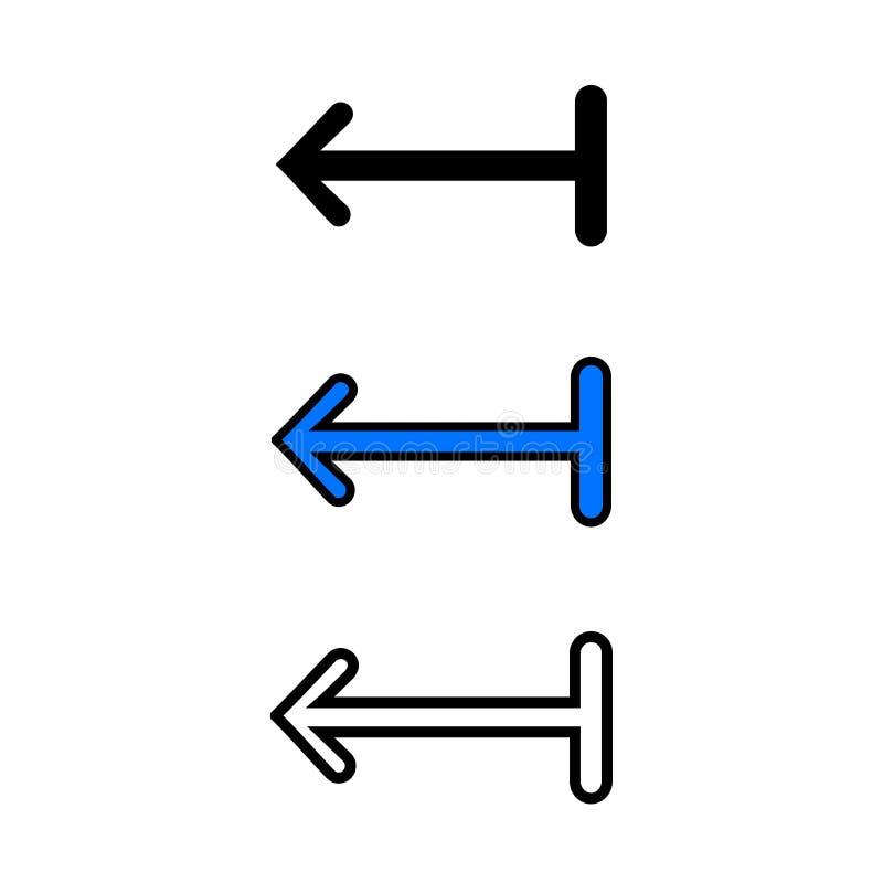 strzałkowata ikona opuszczać ilustracji