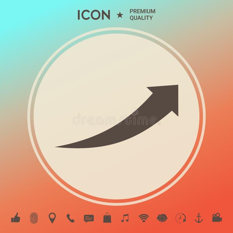 Strzałkowata ikona - up ilustracji