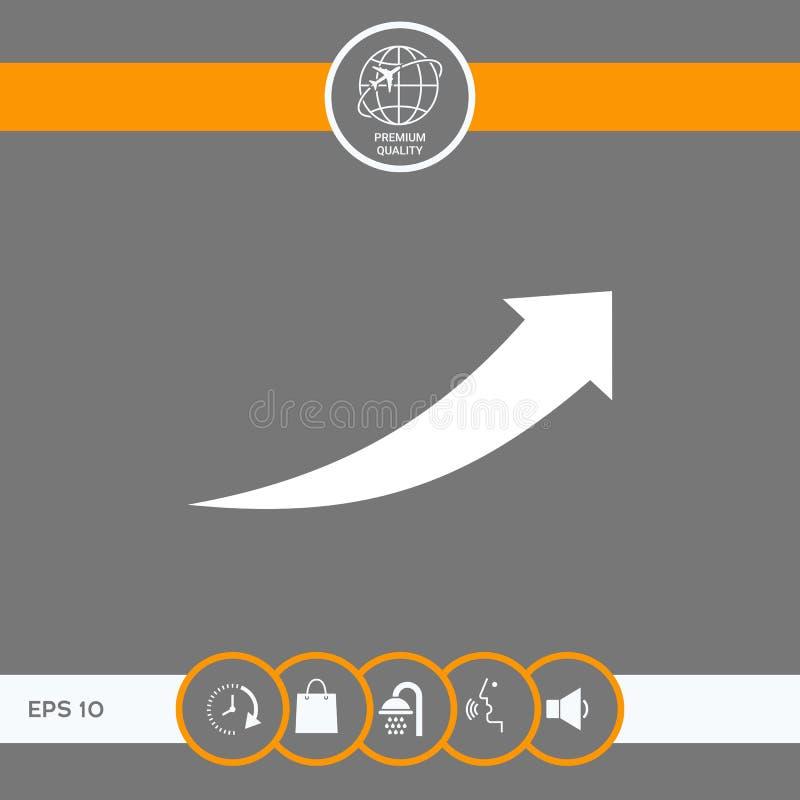 Strzałkowata ikona - up ilustracja wektor