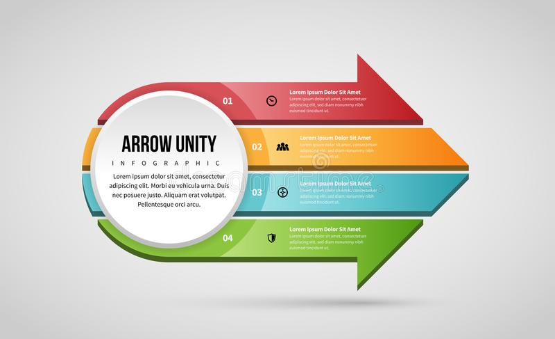 Strzałkowata jedność Infographic royalty ilustracja