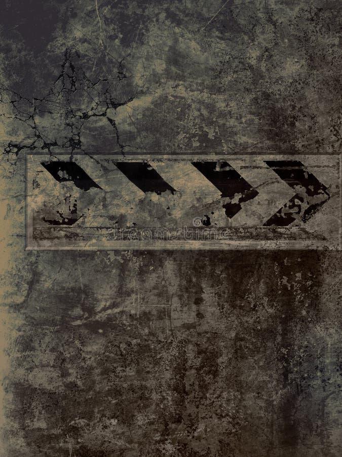 strzałkowata kierunku znaka ściana ilustracji