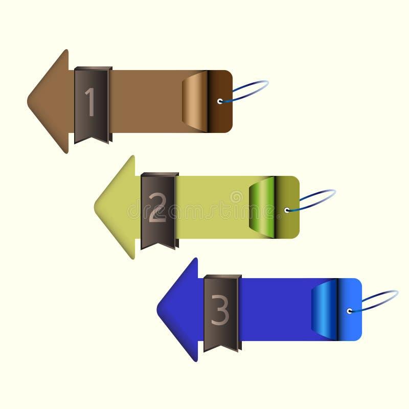 Strzałkowata wyborowa opcja ilustracja wektor