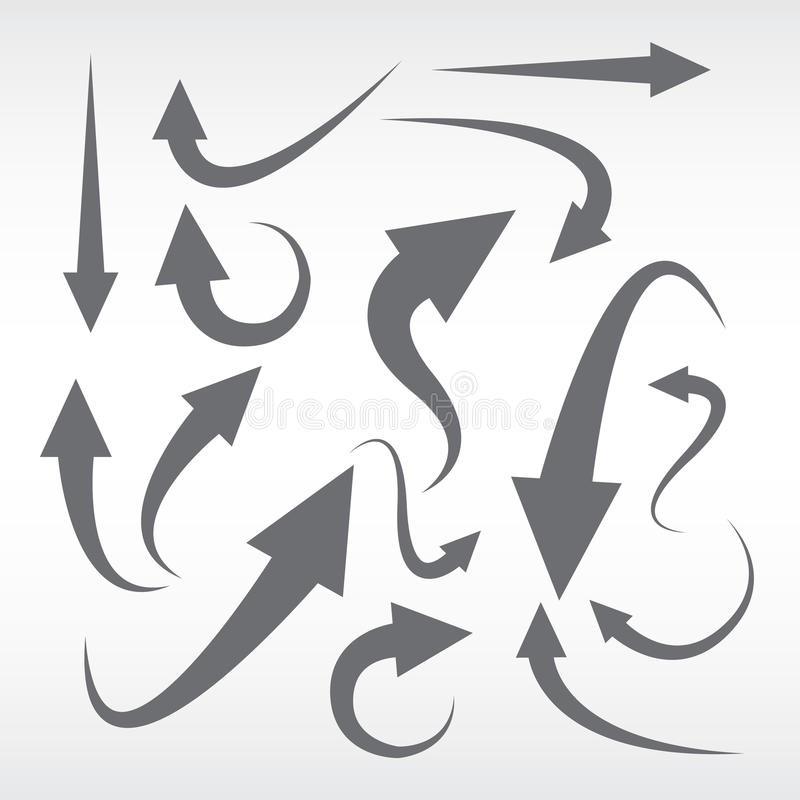 strzałkowate ustawić symbole zdjęcia royalty free