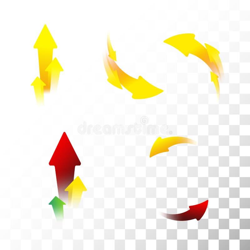 strzałkowate ustawić symbole również zwrócić corel ilustracji wektora mieszkanie oceniać tło przejrzysty ilustracja wektor