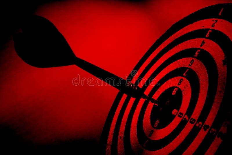 strzałkowatego grunge czerwony cel obrazy stock