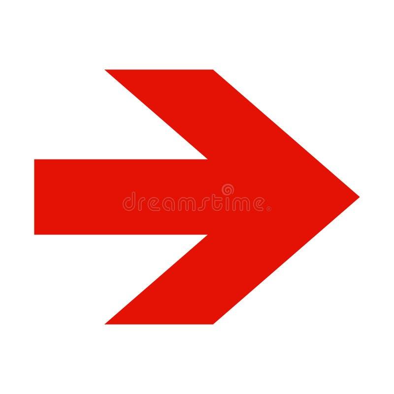 strzałkowatego tła czerwony biel ilustracji