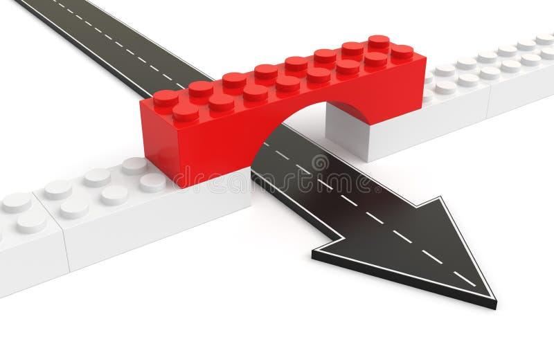 strzałkowaty cegieł most przechodząca zabawka ilustracji