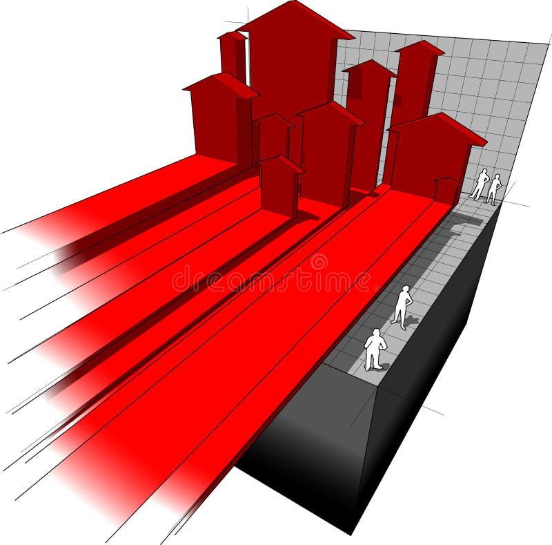 Strzałkowaty diagram royalty ilustracja