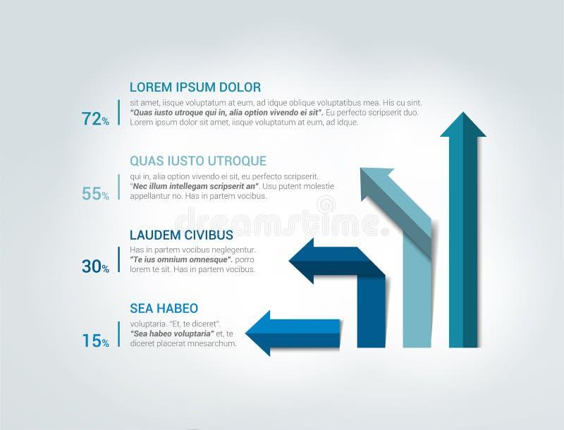 Strzałkowaty infographics flowchart royalty ilustracja