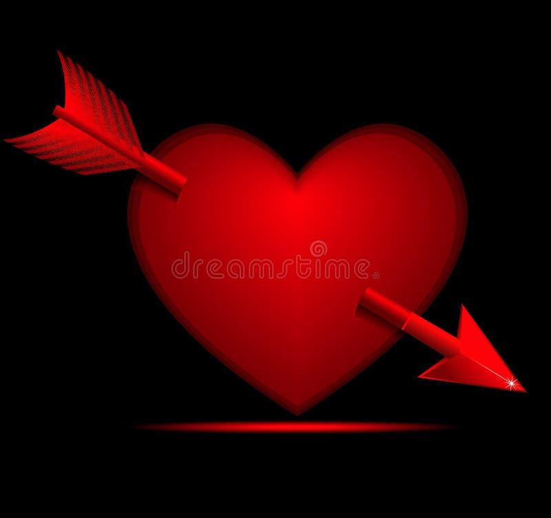 strzałkowaty kierowy valentine ilustracja wektor