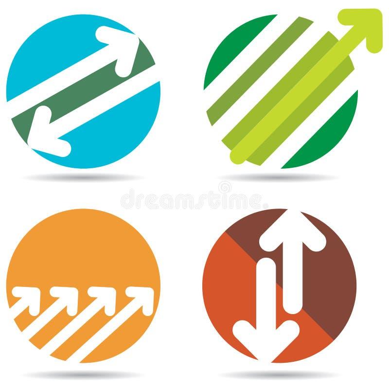 Strzałkowaty logo ilustracja wektor