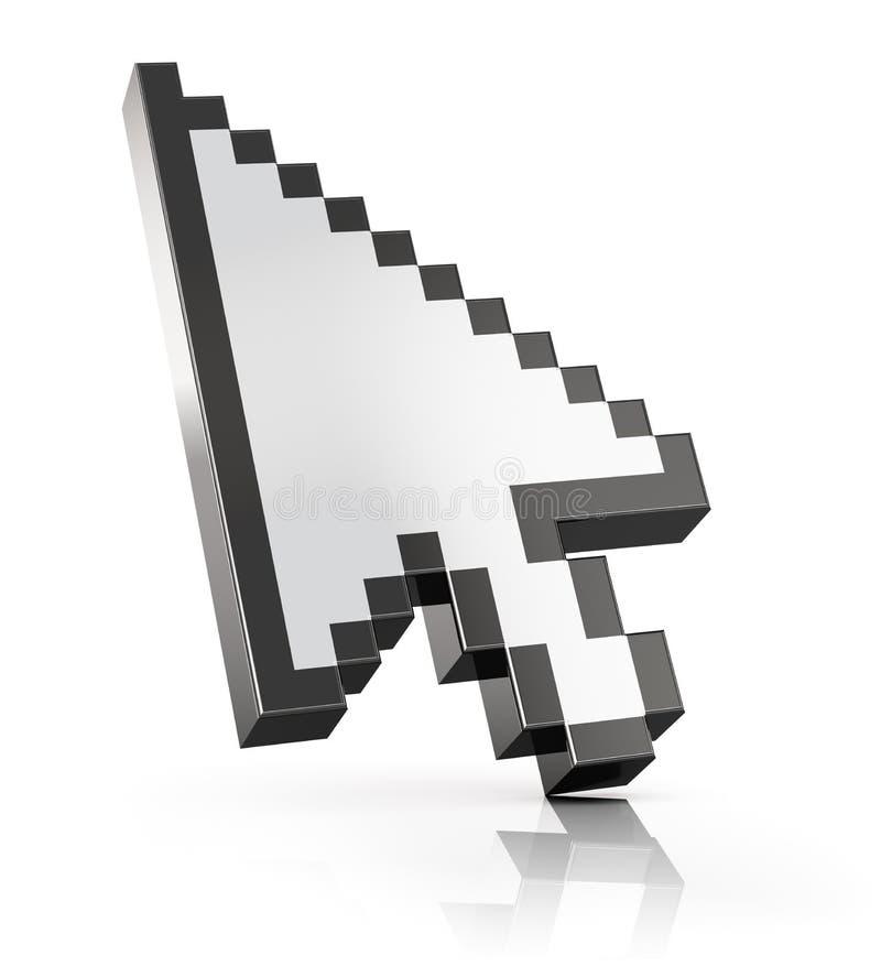 Strzałkowaty mysz komputeru kursor royalty ilustracja