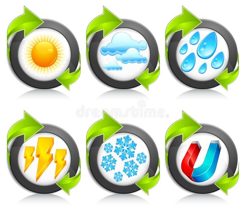 strzałkowatych ikon strzałkowata pogoda ilustracja wektor