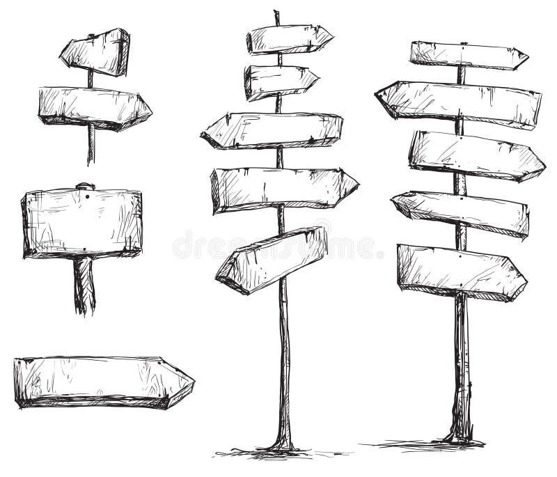 Strzałkowatych znaków wektorowy rysunek ilustracja wektor