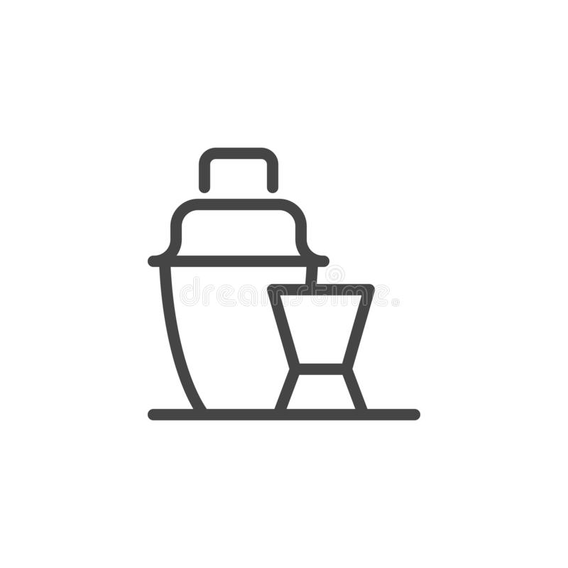 Strzału dekantatoru i szkła ikona Aperitif napoju logo Podpisuje dla noc klubów, barów, pubów, szczęśliwej godziny promo, menu i  ilustracji