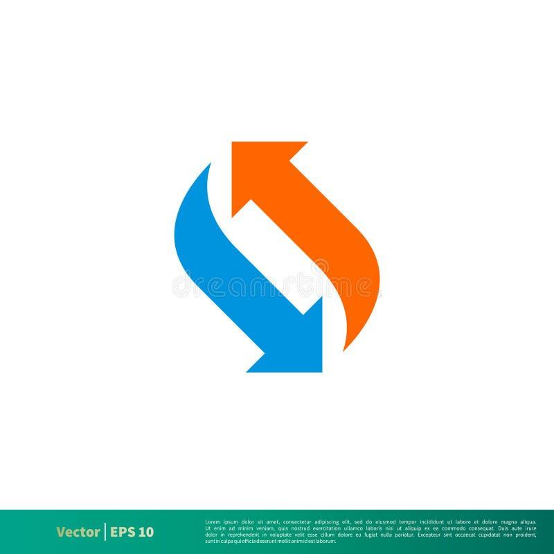 Strzały ikony logo Wektorowego szablonu Ilustracyjny projekt Wektor EPS 10 ilustracja wektor