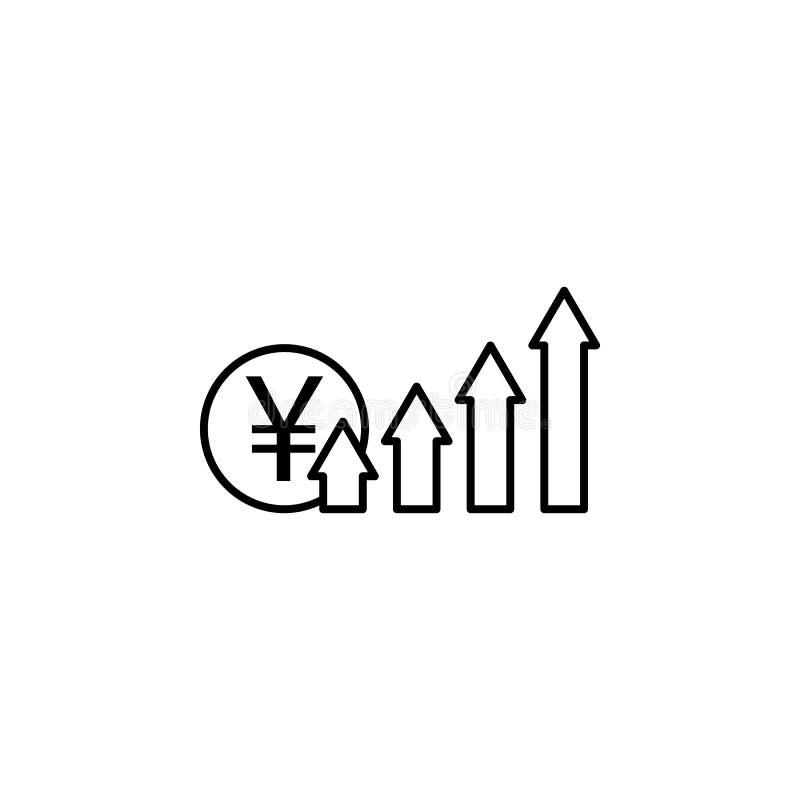 Strzały, w górę, Juan ikona Element finansowa ilustracja Znaki i symbol ikona mogą używać dla sieci, logo, mobilny app, UI, UX royalty ilustracja