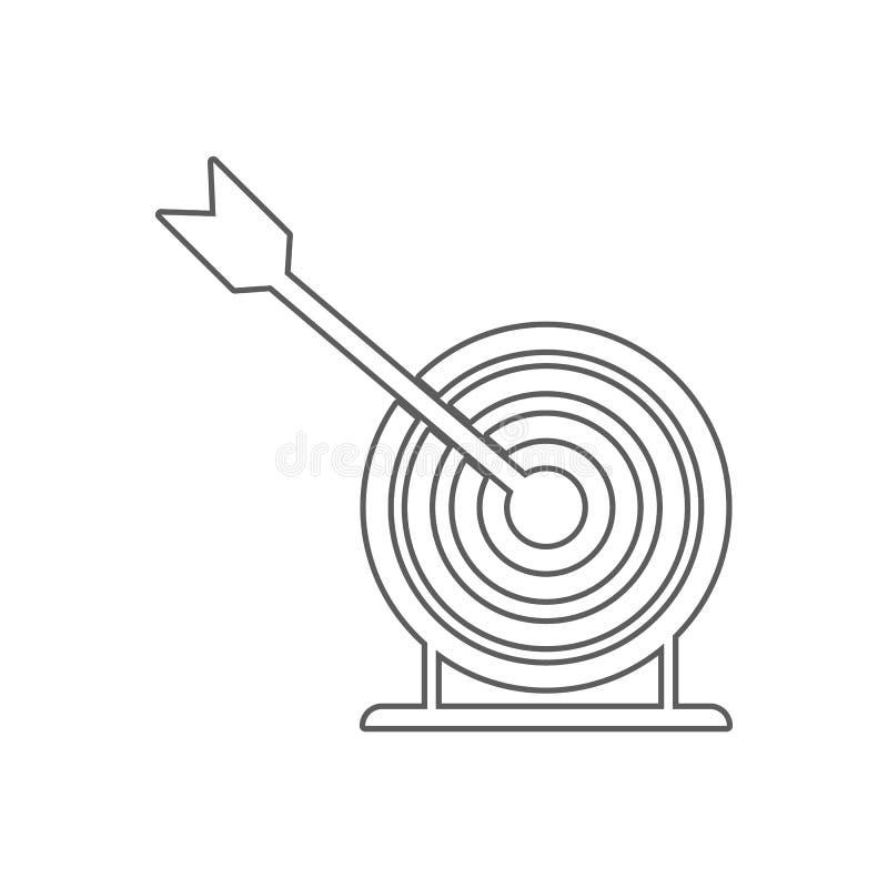 strza?a i celu ikona Element sport dla mobilnego poj?cia i sieci apps ikony Kontur, cienka kreskowa ikona dla strona internetowa  ilustracja wektor