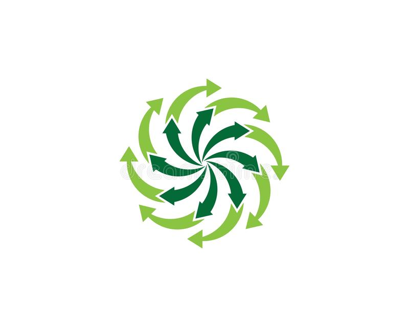 Strza?a ikony loga szablonu wektorowy ilustracyjny projekt royalty ilustracja
