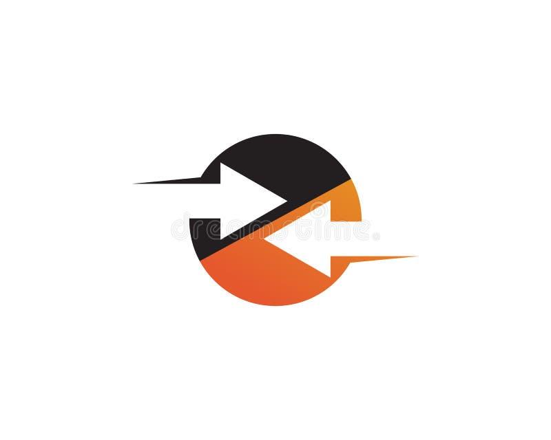 Strza?a ikony loga szablonu wektorowy ilustracyjny projekt ilustracji